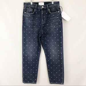 Current Elliot Vintage Crop Studded Jeans Sz 28